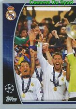611 REAL MADRID CF 2013/14 1/2 WINNERS STICKER CHAMPIONS LEAGUE 2016 TOPPS