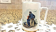 Vintage 1985 Norman Rockwell Looking Out to Sea Old Man & Boy Coffee Tea Cup Mug