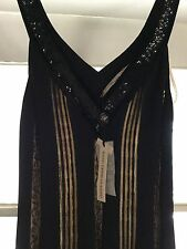 NEW Blumarine Black Flapper Dress w/ Peek-a-Boo Panel Detailing - EU 40/US 4