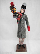 "Simpich Character Dolls Christmas Caroler Lantern Man 14"" Early 1980s Chips"
