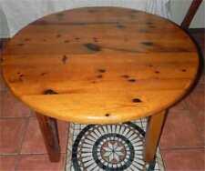 Tisch Esstisch rund 114 cm ausziehbar auf 202 cm massiv Kiefer