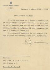 Lettera Autografo Generale Guardia Finanza Aldo Aymonino Guerra Italo-Turca 1940