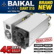New BAIKAL Giant X10 ASIC Miner Multi Algorithm X11 Quark Qubit Power Supply PSU