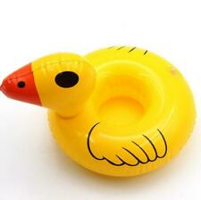 Inflatable Drinks Holder Yellow Duck Floating Cup Hot Tub Swimming Pool Bath