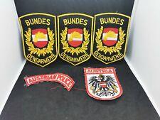 BUNDES GENDARMERIE AUSTRIAN POLICE CLOTH PATCHES