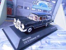 MERCEDES BENZ 230 S 230S Universal Kombi schwarz blac 1967 IXO White Box SP 1:43