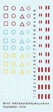 BR-105 - WWII British Armoured Markings - 1/144 Decals