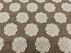 Designers Guild Rosette Motif Print Fabric- Barrameda / Biscuit 1.55 yd FW113/04