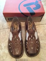 Propet Women's Sandals Shoes NEW Jenna Leather Size 9.5 X(2E) Brown