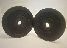 """Lot of 2 Vintage BFCO 10 lb Standard Weight Plates 20 lbs total - 1"""" Hole"""