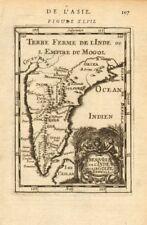 L'inde. mogholes mogul empire moghol. goa kochi Chaul & c. mallet 1683 old map