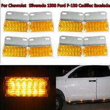 8X Amber 12-LED Side Marker Light 12V 24V Commercial Vehicle Off-Road Lamp