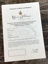 CUERVO Y SOBRINOS certificato d'origine & Garanzia TORPEDO Esplendidos KRONOTEX