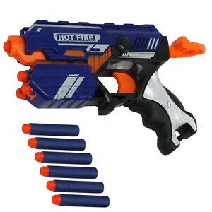 Soft- Pfeil Pistole mit 10 weiche Pfeile Hot Fire Gewehr Spielzeugpistole soft
