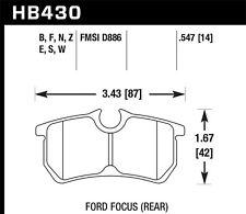 Disc Brake Pad Set-HP Plus Disc Brake Pad Rear Hawk Perf fits 01-07 Ford Focus