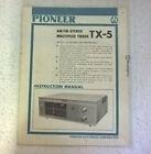 Pioneer TX-5 Operators Manual Handbuch (TX-5A?)