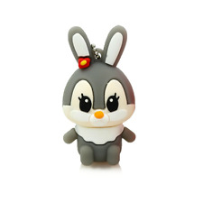 Grey Rabbit Bunny Cartoon Cute 32GB USB Flash Drive 2.0 Memory Storage 32 GB