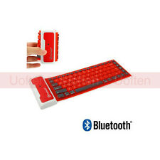 Bluetooth Wireless Washable Water-proof Flexible Silicone Roll UP Keyboard ue1
