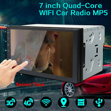 7'' Double 2Din Car Radio Stereo WiFi Quad Core Android 6.0 MP5 Player GPS 3G 4G