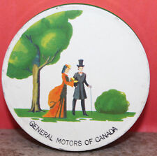 General Motors of Canada Vintage 6 Piece Metal Coaster Set Made in USA 1930s