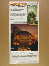1980 Cathedralite Domes Homes geodesic dome house photo vintage print Ad