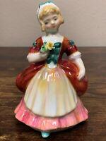 "Estate Royal Doulton Valerie HN2107 5 ¼"" Figurine! Cute! 45"