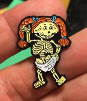 GPK enamel pin Bony Joanie Garbage Pail Kids retro 80s hat lapel bag skeleton