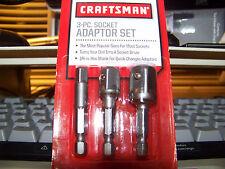 Craftsman-3pc-1-4-inch-Hex-Socket-Adapter-Set-Quick-Change-Chuck-937920