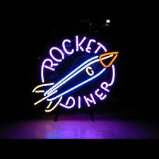 """New Rocket Diner Bar Beer Man Cave Neon Light Sign 17""""x14"""""""