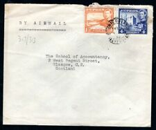 Cyprus - 1953 KGVI Airmail Cover to Scotland