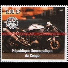 YAMAHA YZF 1000 R1 CONGO 2003 Timbre Poste Collection Stamp Stempel Sello