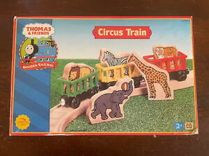 2005 Learning Curve Wooden Thomas Train Circus Train! NEW