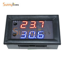 12V Blue W1218 Thermostat+NTC Probe Controller 3-Digit Display Replace W1209WK