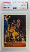 1996 96 TOPPS Kobe Bryant ROOKIE RC #138, Graded PSA 8, Los Angeles Lakers