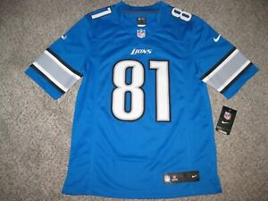 Calvin Johnson MEGATRON Detroit Lions Mens Small Blue Nike Limited Jersey