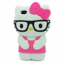 "Hello Kitty Glasses 3D Character Soft Silicone Case Cover Iphone 6 6S 4.7"" - HOP"