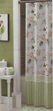 *CROSCILL PARADISE SHOWER CURTAIN PINK GREEN BLUE BROWN WHITE FLORAL  72 X 72
