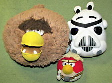 ANGRY BIRDS STAR WARS PLUSH LOT CHEWBACCA LUKE STORM TROOPER STUFFED ANIMAL TOY