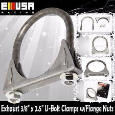 "One 2.5"" I.D. Universal heavy duty Exhaust Hanger 2 1/2 U Bolt Clamp 3/8"" bolt"