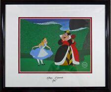 Alice cel Wonderland Disney Sericel Queen Hearts Signed Kathryn Beaumont