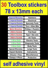 W 30 Toolbox Labels Craftsman snap on sealey us pro beta draper Tool Chests box