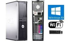 Dell OptiPlex SFF or DT PC Windows 10 Dual Core 2GB 90 DAY WARRANTY WiFi ready