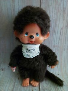 Vintage 70's Monchhichi Plush Toy Blue Eyes Sekiguchi Japan 8""