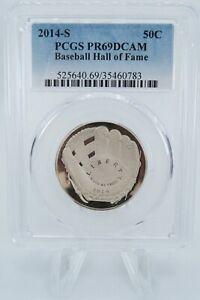 2014-S PCGS PR69DCAM Baseball Hall of Fame Commemorative Clad Proof 50C