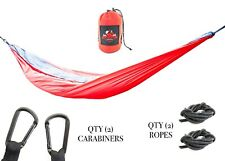 Lightweight Portable Camping Hammock 2 Person (Red/Gray)