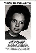DIANE KEATON Postcard - High School Yearbook photo (Santa Ana HS) New