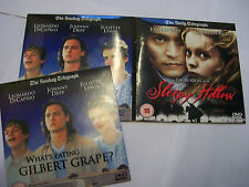 2 x JOHNNY DEPP DVDs Sleepy Hollow [1999] + What's Eating Gilbert Grape [1993]