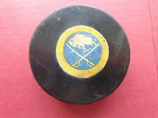 VINTAGE CONVERSE BUFFALO SABRES ART ROSS TYER  HOCKEY PUCK WITH CASE