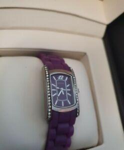 Ladies Purple Sekonda Party Time Quartz Watch with soft Rubber strap l@@K.