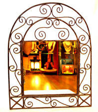 Moroccan Wall Mirror Beautiful Gift Handmade Authentic Decor Wrought Iron Arched